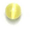 "Cat Eye Beads 4mm Round Yellow Strung 16"" Fibre Optic"